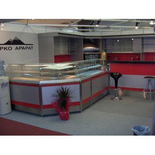 Αναψυκτηρίου εξοπλισμός 1 με τυροπιτιέρα, ψυγεία, ψηστικά μηχανήματα και συσκευές ροφημάτων