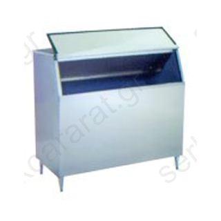 Ανοξείδωτη αποθήκη για μηχανή παγοτρίμματος χωρητικότητας 400 κιλών Β400