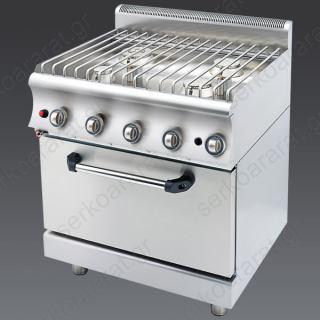 Κουζίνα υγραερίου Catrine (φούρνος & 4 εστίες) KGF470