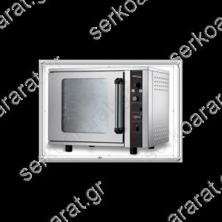 Φούρνος κυκλοθερμικός για 6 ταψιά 60Χ40 & ψεκασμό υγραντήρα BISTROT 664
