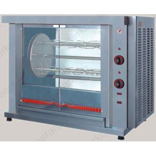Κοτοπουλιέρα ηλεκτρική περιστροφική με άξονα για καλάθι ή σούβλα ΗΚ4