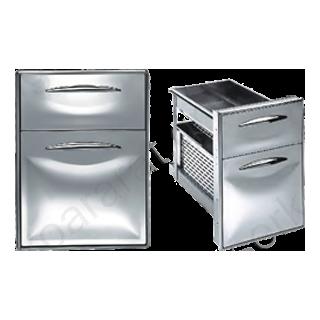 Συρταριέρα διπλή 2/3 ανοξείδωτη 44,5Χ60,3 (ψυγείου)