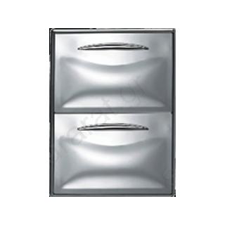 Συρταριέρα διπλή 1/2 ανοξείδωτη 44,5Χ70,7 (ψυγείου)