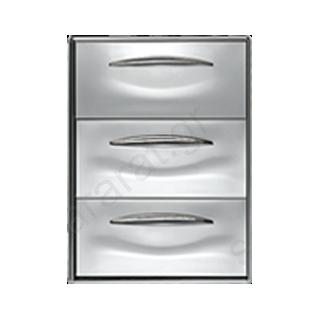 Συρταριέρα τριπλή ανοξείδωτη 44,5Χ60,3 (ψυγείου)
