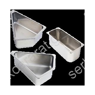 Λεκάνη τραπεζοειδής για καμπύλους πάγκους (15 λιτρών)