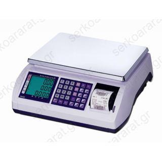 Ζυγαριά ηλεκτρονική CAS POSCALE με εκτύπωση (6 κιλά)