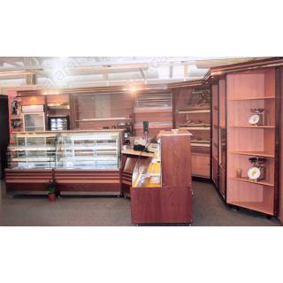 Εξοπλισμός πρατηρίου άρτου 3 με ψυγείο ζαχαροπλαστικής, τυροπιτιέρα, βιτρίνα ουδέτερη και ταμείο