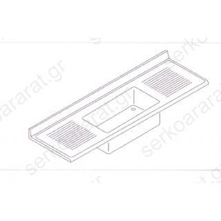 Επιφάνεια 240Χ70 με 1Γ 116Χ50Χ40 & (2) στραγγιστήρες