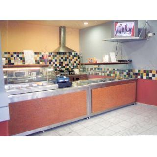 Αναψυκτηρίου εξοπλισμός 11 με ψυγείο βιτρίνα τόστ, θερμαινόμενη βιτρίνα & ερμάριο ταμείο