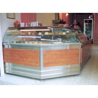 Αναψυκτηρίου εξοπλισμός 12 με τυροπιτιέρα γωνιακή, ψυγείο τόστ βιτρίνα και ερμάριο ταμείο