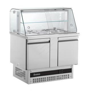 Ψυγείο σαλατών συντήρηση με 2 πόρτες & βιτρίνα BSV7300