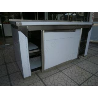 Ερμάριο 148X60X86 συρόμενες πόρτες & σήκωμα στην πλάτη στο καπάκι