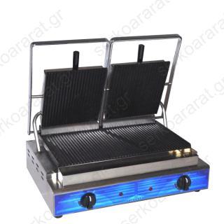 Επαγγελματική τοστιέρα διπλή ραβδωτή Τ306