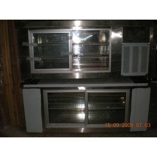 Ψυγείο πάγκος συντήρηση με δύο συρόμενες πόρτες 200Χ70Χ86