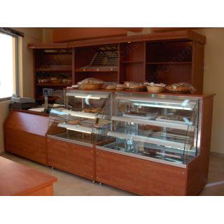 Εξοπλισμός πρατηρίου άρτου 5 με ψυγείο, τυροπιτιέρα, ταμείο & τμήμα πλάτης