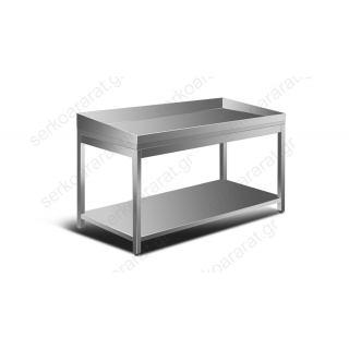 Τραπέζι ανοξείδωτο ψαριών 150Χ120Χ80(90)