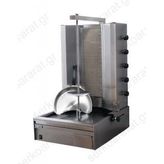 Γύρος υγραερίου για 60 κιλά κρέατος με μοτέρ κάτω MOD.905Β
