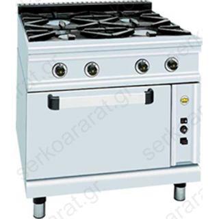 Αερίου επαγγελματική κουζίνα FC4FS9