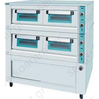 Φούρνος ηλεκτρικός Κ.150 2 όροφοι με θερμοθάλαμο