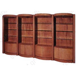 Ραφιέρα ξύλινη πλάτη ΕΚΑΤΗ