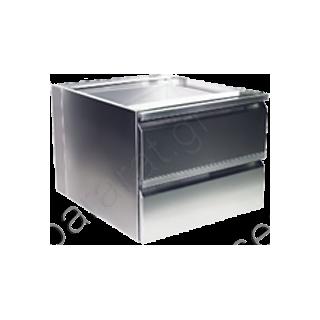 Συρταριέρα διπλή ανοξείδωτη (ερμαρίου)
