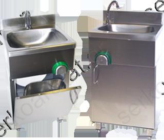 Νιπτήρας χεριών ερμάριο με μείκτη νερού, βρύση και διακόπτη γονάτου 40004.40
