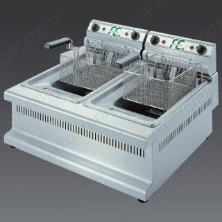 Φριτέζα ηλεκτρική διπλή FE 15+15A CLASSIC
