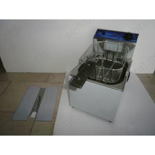 Επαγγελματική μονή φριτέζα ηλεκτρική με κάδο 7 λιτρών Φ603