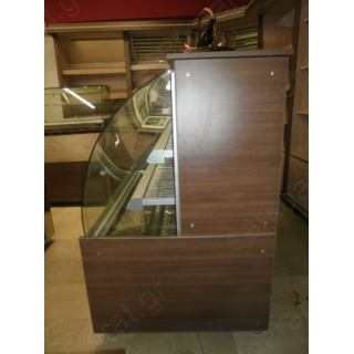 Πρατηρίου άρτου εξοπλισμός 1 με ψυγείο, τυροπιτιέρα, ταμείο και ντουλάπια πλάτης