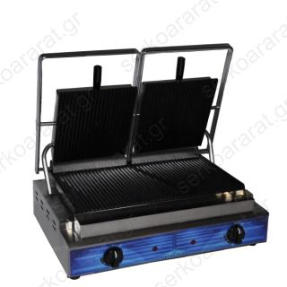 Επαγγελματική τοστιέρα διπλή ραβδωτή Τ205