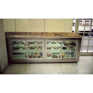 Ψυγείο πάγκος βιτρίνα ζαχαροπλαστικής 250Χ80Χ90