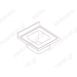 Επιφάνεια λάντζας 90Χ70 με (1) γούρνα