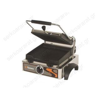 Τοστιέρα μονή ηλεκτρική λεία ή ραβδωτη GR 4.2