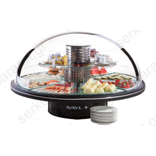 Buffet ψυχόμενο στρογγυλής μορφής για κρύα πιάτα