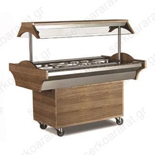 Salad Bar θερμαινόμενο buffet για 4 GN 1/1 EMP.SBS.04