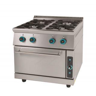 Κουζίνα υγραερίου επιδαπέδια με 4 εστίες & φούρνο FC4FS7
