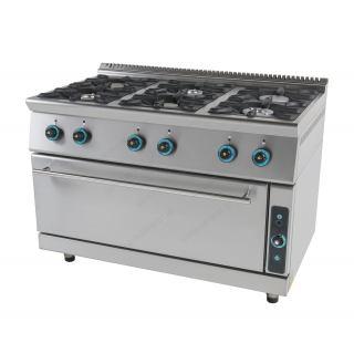 Κουζίνα υγραερίου επιδαπέδια 6 εστιών & ενιαίο φούρνο FC6FLS7