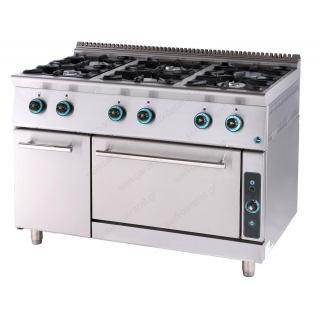 Κουζίνα υγραερίου με φούρνο & 6 εστίες & ερμάριο FC6FS9