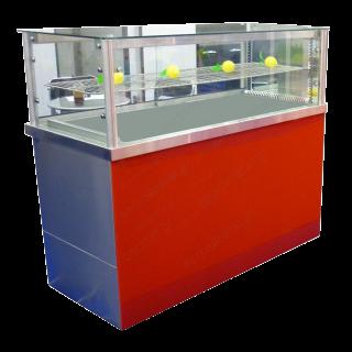 Ψυγείο σαλατών βιτρίνα (κολώνες/ίσια κρύσταλλα) 150Χ70Χ130
