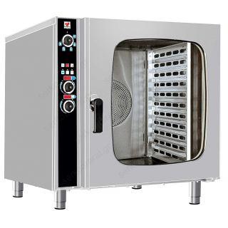 Ηλεκτρικός φούρνος αέρος ατμού με boiler με 10 GN 1/1 FCN100