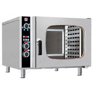 Φούρνος ηλεκτρικός αέρος ατμού με boiler με 6 θέσεις 60Χ40 FCN60