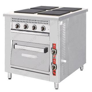 Επαγγελματική ηλεκτρική κουζίνα F80E4